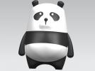 可爱小熊猫 3D模型 图1