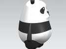 可爱小熊猫 3D模型 图2