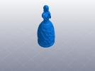 祈祷的少女——灯罩 3D模型 图6