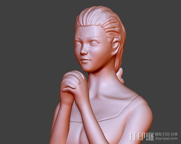 祈祷的少女——灯罩 3D模型  图4