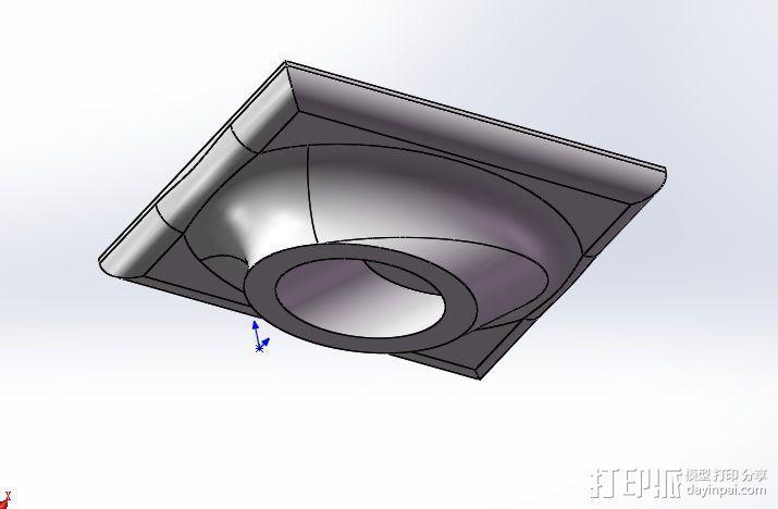 T尾支撑座 3D模型  图2