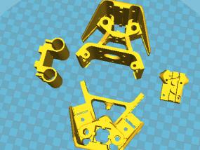 国标2020光轴版支撑角件+轴承支架+皮带固定架 3D模型