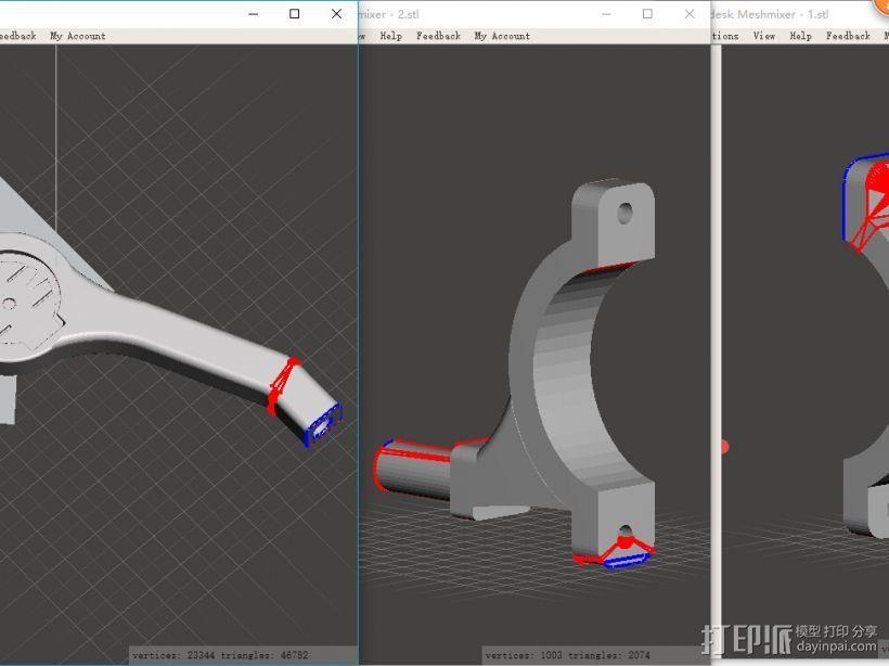 佳明码表延长架 3D模型  图3