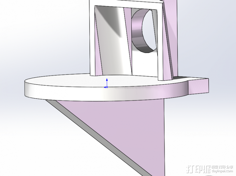 衣柜支撑 3D模型  图1