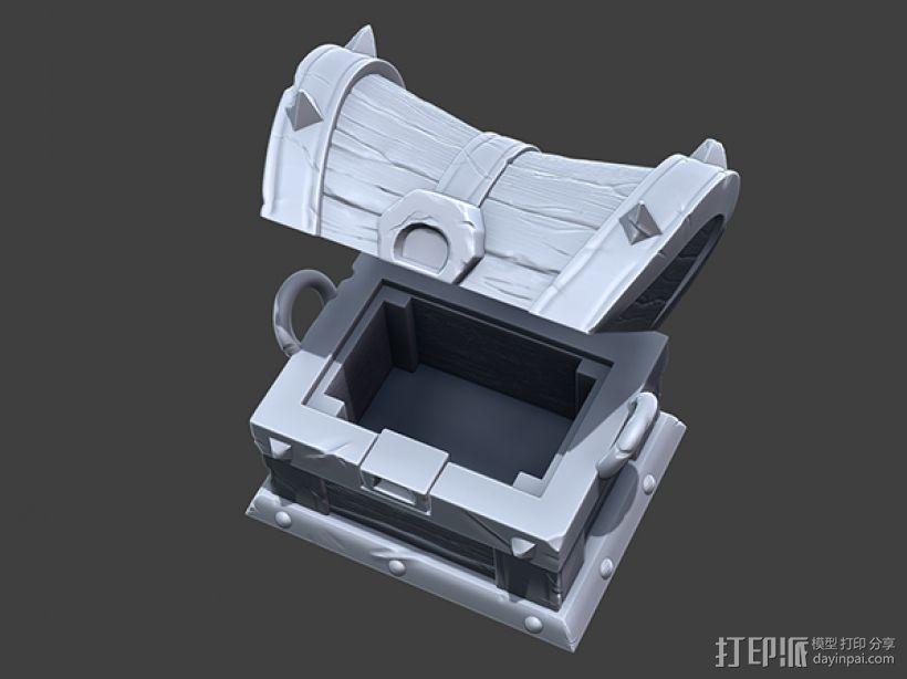 海贼宝箱——小件收纳盒 3D模型  图5