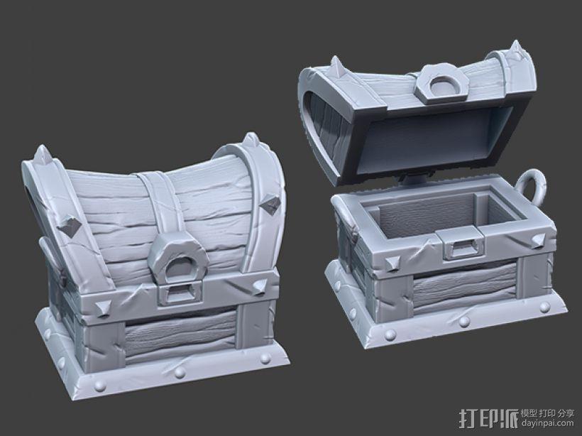 海贼宝箱——小件收纳盒 3D模型  图1