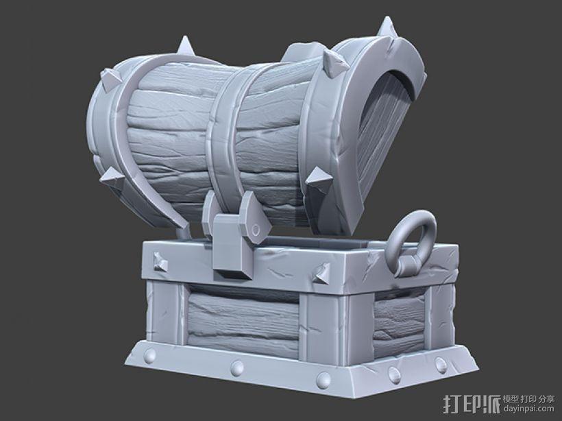 海贼宝箱——小件收纳盒 3D模型  图3