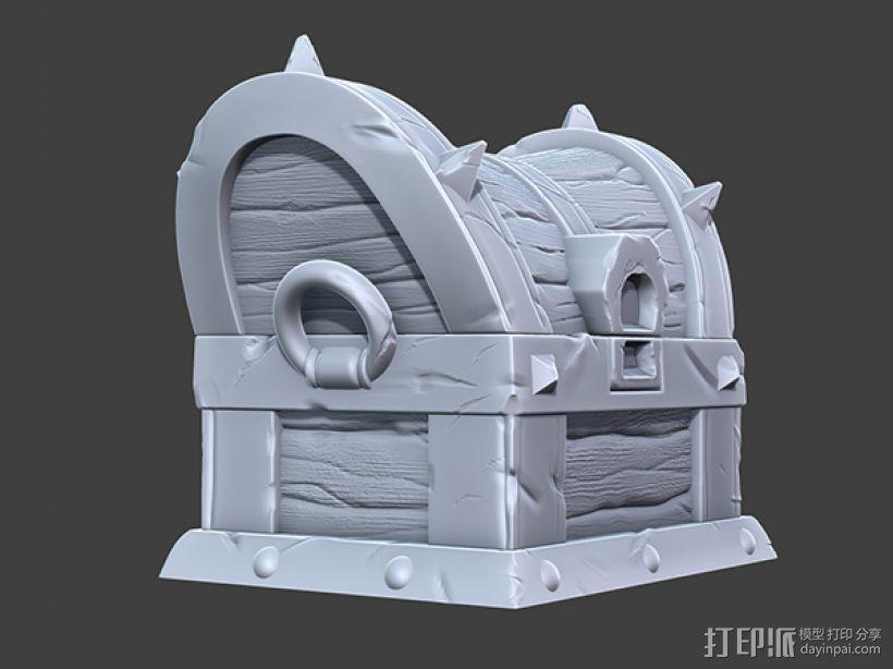 海贼宝箱——小件收纳盒 3D模型  图2