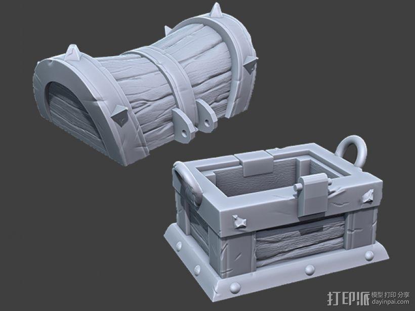 海贼宝箱——小件收纳盒 3D模型  图4