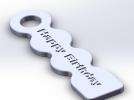 Happy Birthday 标示牌 3D模型 图1