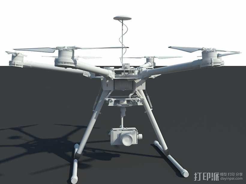 航拍机/无人机 3d模型 3D模型  图1