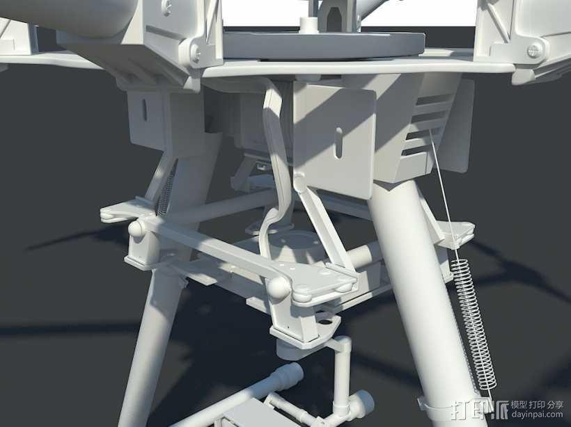 航拍机/无人机 3d模型 3D模型  图3