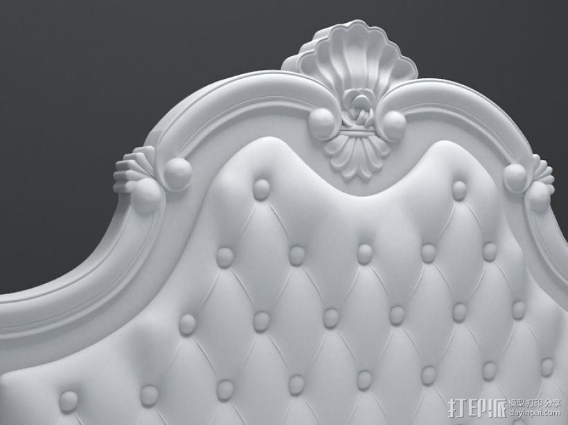 三维精品欧式雕花床模型 3D模型  图1