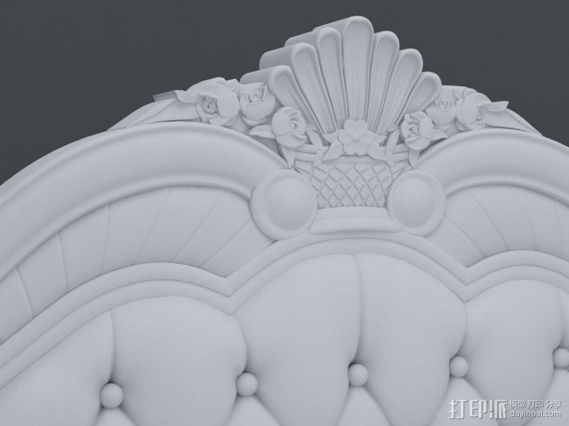 精品雕花床模型 3D模型  图1