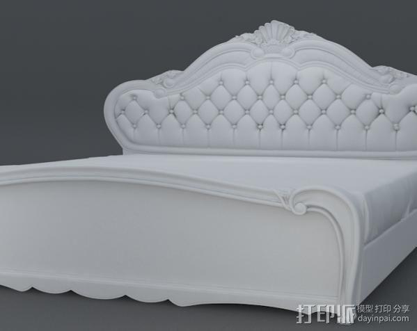 精品雕花床模型 3D模型  图2