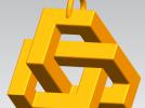 立方体挂件吊坠 3D模型 图1