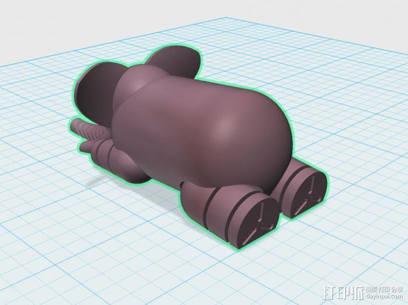 可爱小象 3D模型  图1