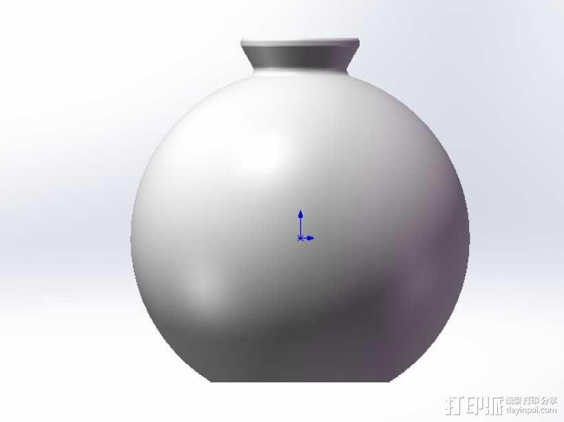 圆形花瓶 3D模型  图1