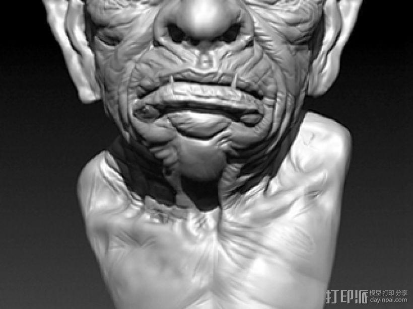 带角的怪兽高模 3D模型  图1