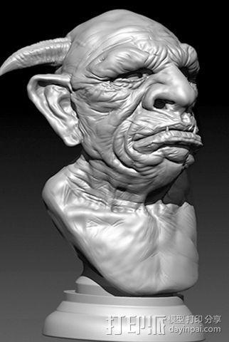 带角的怪兽高模 3D模型  图2