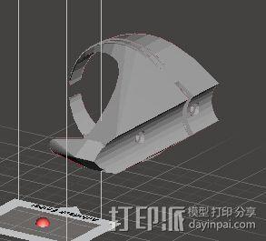 自行车水壶架 3D模型  图2
