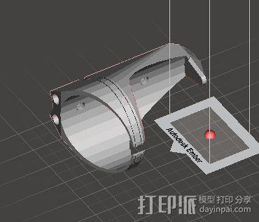 自行车水壶架 3D模型  图1