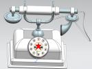 电话模型古典模型欧美风格电话3D打印 3D模型 图2