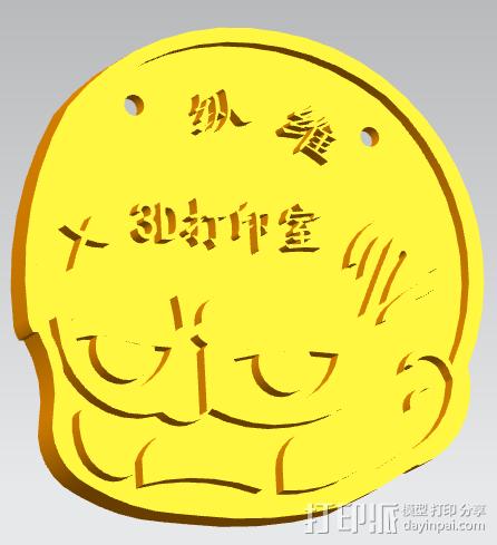 挂牌,骷髅头挂饰,个性门牌 3D模型  图1