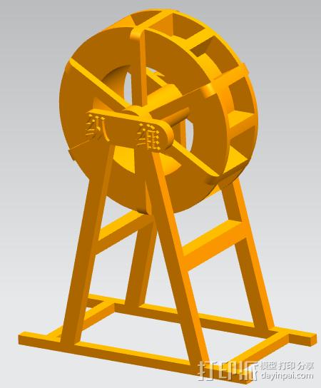 运动水车 3D模型  图1