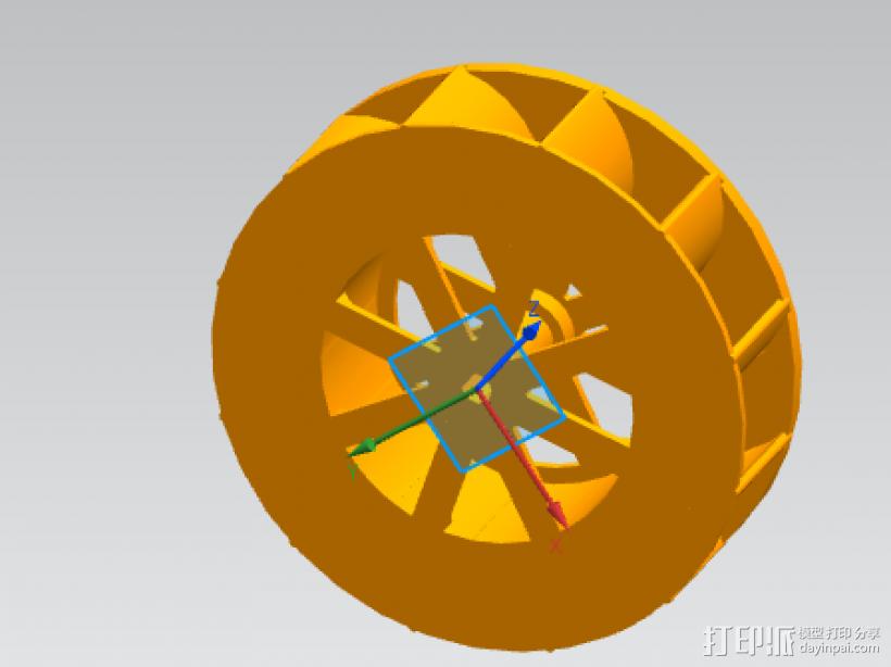 活动的轮轴 3D模型  图1