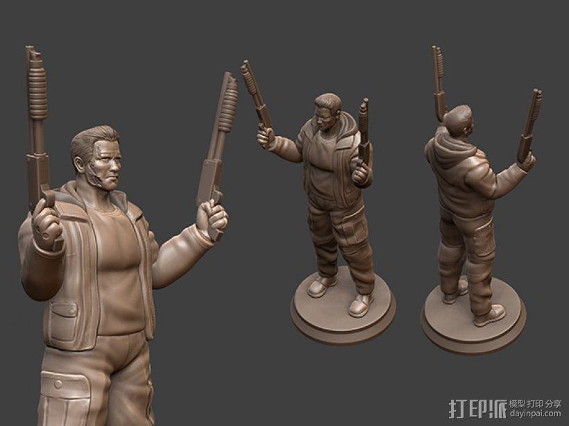 《终结者:创世纪》之T-800 3D模型  图2