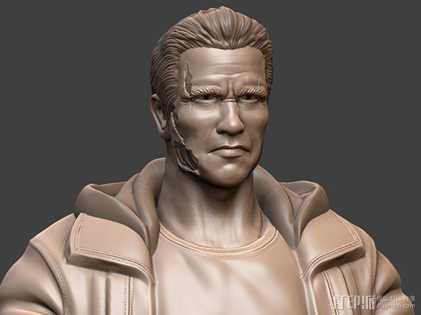 《终结者:创世纪》之T-800 3D模型  图3