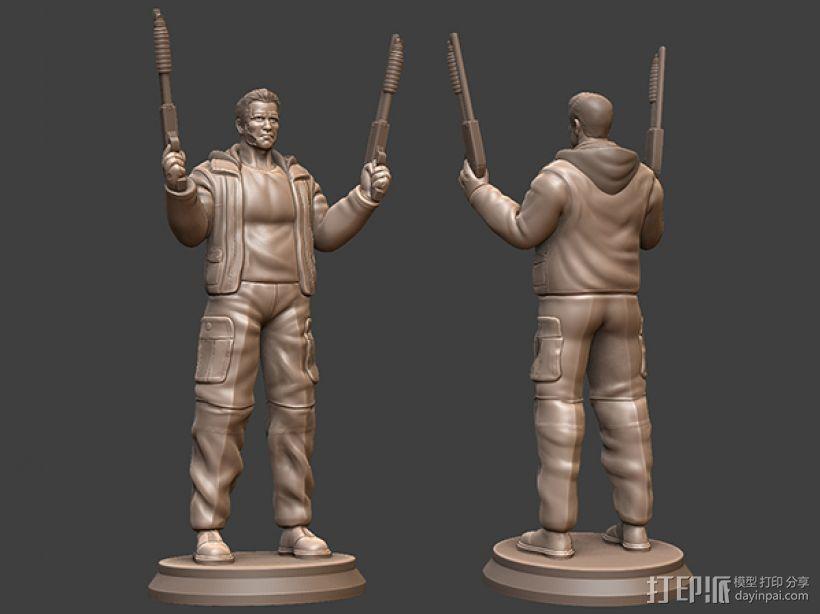 《终结者:创世纪》之T-800 3D模型  图1