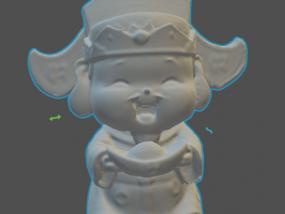 财神爷 3D模型