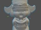 财神爷 3D模型 图1