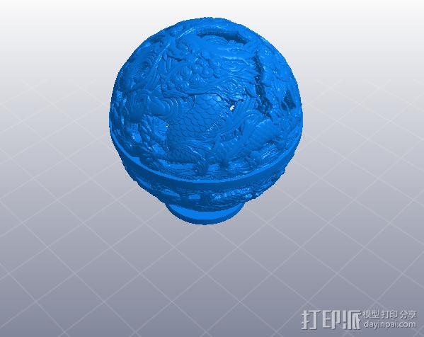 镂空浮雕球——桌面装饰 3D模型  图4