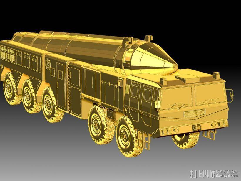 东风21导弹  3D模型  图1