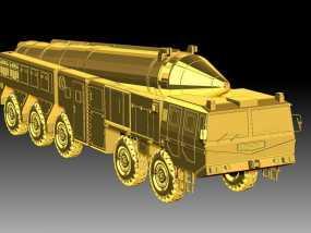 东风21导弹  3D模型