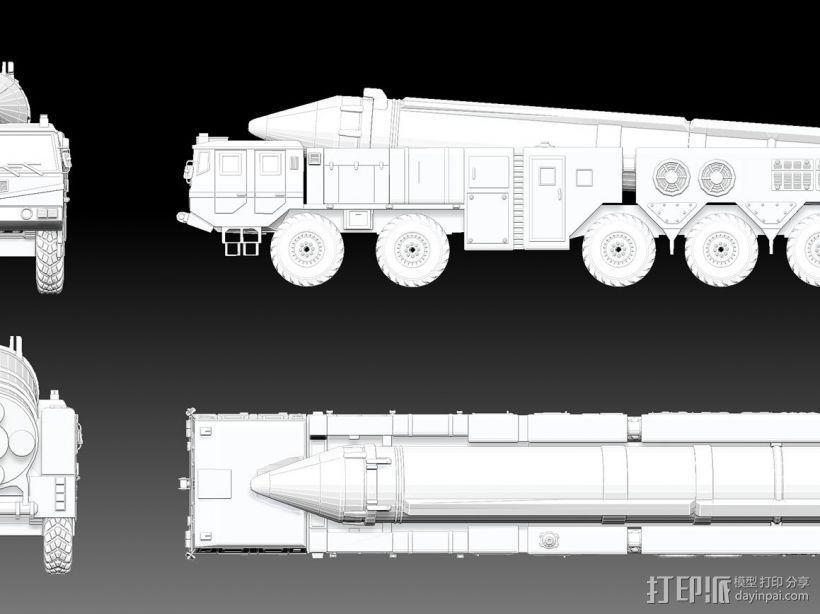 东风21导弹  3D模型  图2