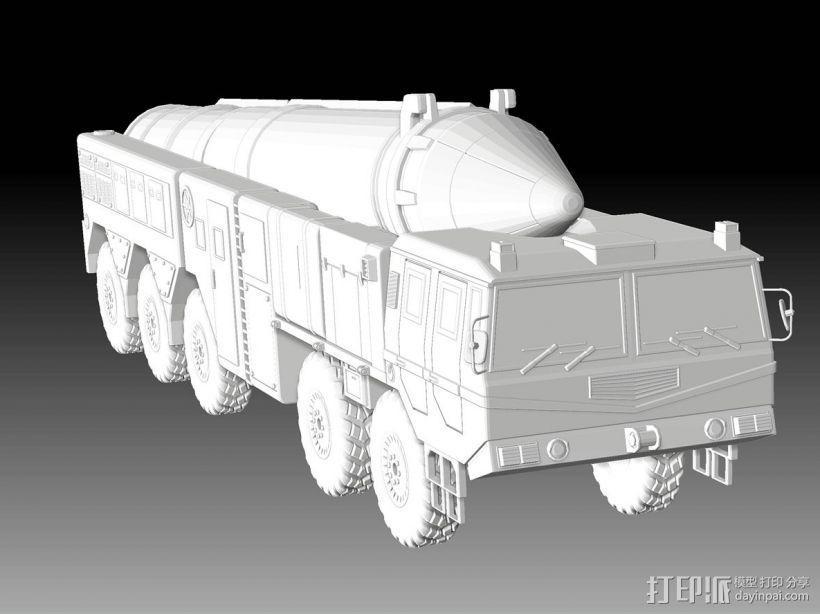 东风21导弹  3D模型  图3