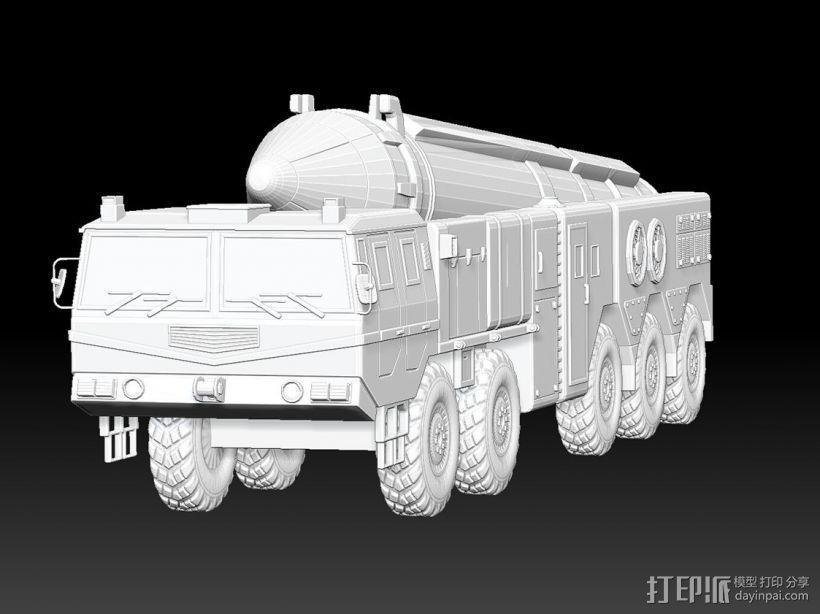东风21导弹  3D模型  图5
