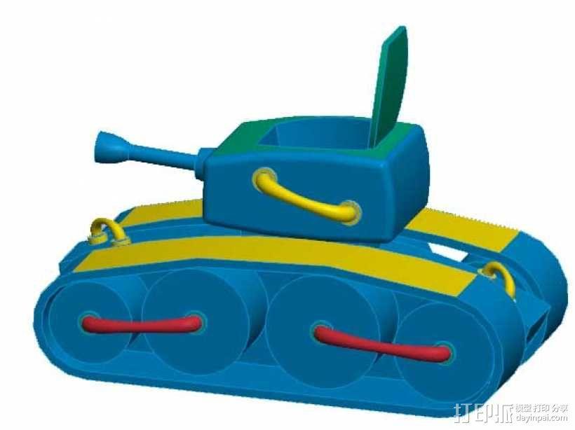 坦克模型-《舒克和贝塔》中的坦克 3D模型  图2