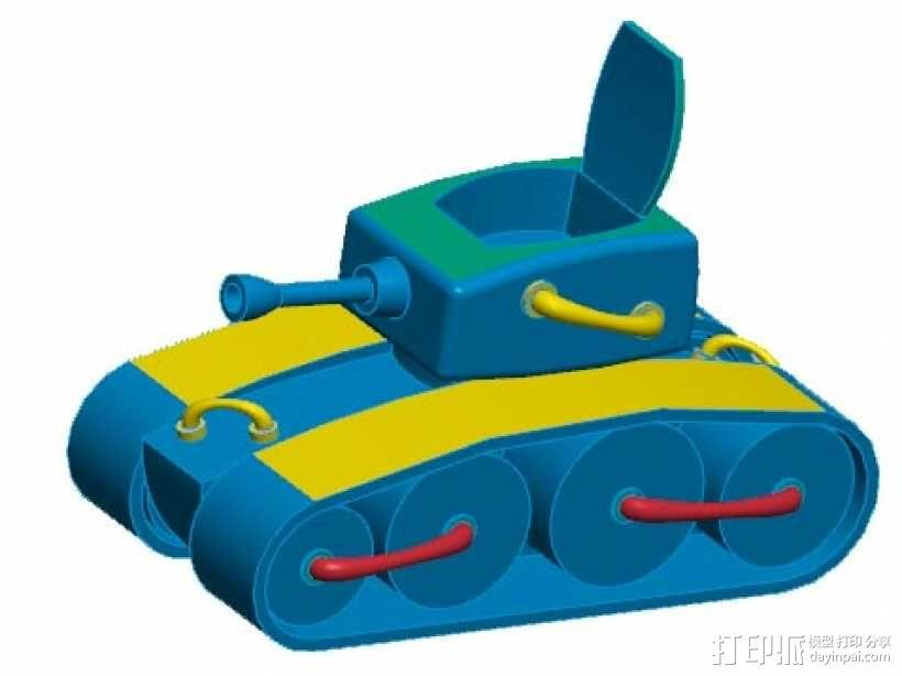 坦克模型-《舒克和贝塔》中的坦克 3D模型  图3