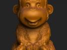ZB精雕 茶宠 四不猴一  不动猴 obj格式 3D模型 图1