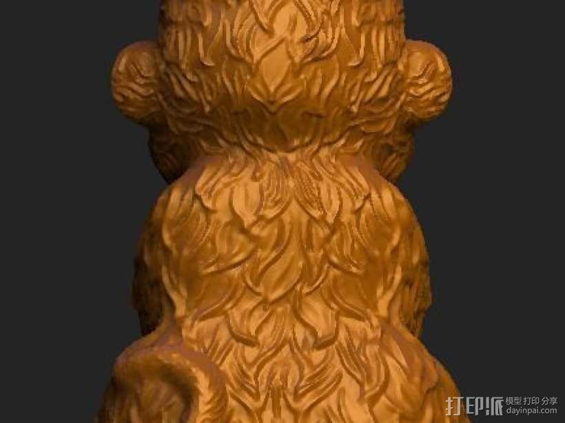 ZB精雕 茶宠 四不猴一  不动猴 obj格式 3D模型  图5