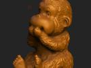 ZB精雕 茶宠 四不猴二  不说猴 obj格式 3D模型 图5