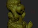 ZB精雕 茶宠 四不猴一三 不听猴 obj格式 3D模型 图5