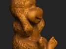 ZB精雕 茶宠 四不猴一三 不听猴 obj格式 3D模型 图4