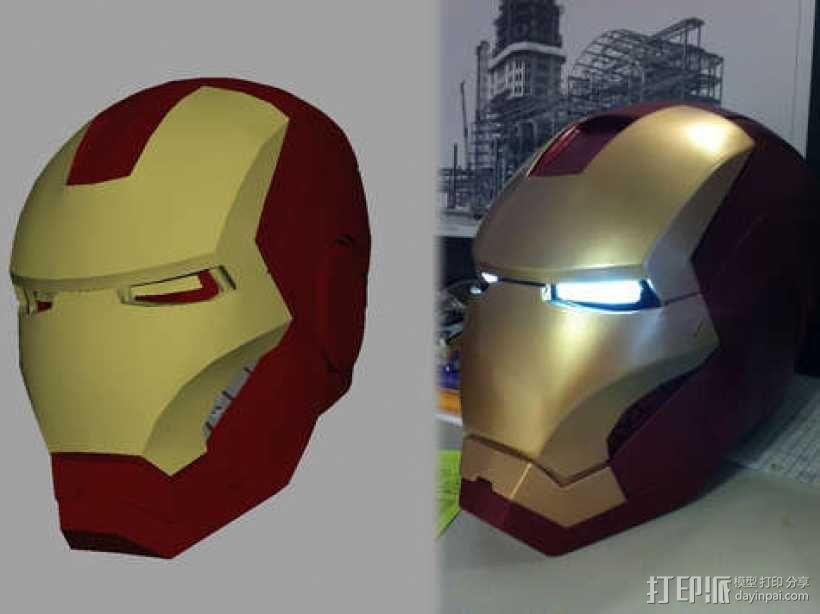 3D打印钢铁侠头盔!可穿戴! 3D模型  图2