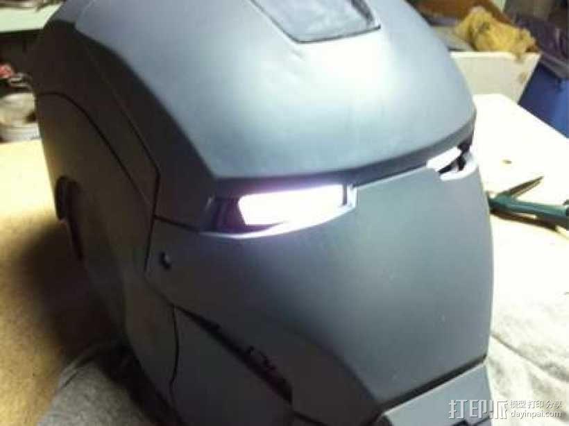 3D打印钢铁侠头盔!可穿戴! 3D模型  图1